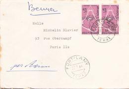 TCHAD ENVELOPPE DU 22 JUILLET 1964 DE FORT LAMY POUR PARIS - Tchad (1960-...)