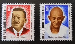 GRANDS LEADERS MONDIAUX DE LA PAIX 199 - NEUFS ** - YT PA 122/23 - MI 760A/61A - Togo (1960-...)