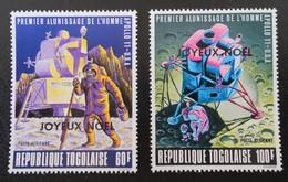 SURCHARGES JOYEUX NOËL 1969  - NEUFS ** - YT PA 109/10 - Togo (1960-...)