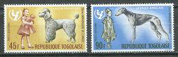 Togo Poste Aérienne YT N°65/66 UNICEF Chiens De Race Neuf ** - Togo (1960-...)