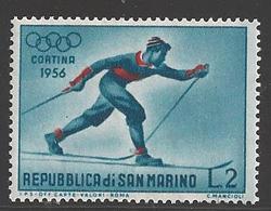 1956 2 Lire Sking, Mint Never Hinged - San Marino