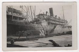 Photo Originale Marine Bateau Paquebot Le Voyron Au Quai à Marseille - Boten
