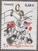 Oblitération Moderne Sur Timbre De France N° 4954 - 70 ème Anniversaire Du Huit Mai 1945 - France
