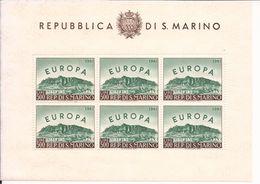 San Marino 1961 Foglietto Europa Unita N°23 Cod.fra.1152 - San Marino