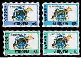 (360) Ethiopia / Ethiopie  Rare / Scarce Overprints / Aufdrucke / Series 1 /1994 ** / Mnh  Michel 1509-12 - Ethiopia