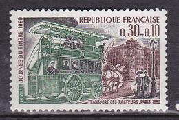 N° 1589 Journée Du Timbre: Omnibus De Transport Des Facteurs: 1 Timbre Neuf Sans Charnière - Nuevos