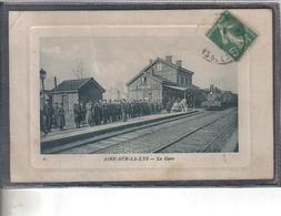 Carte Postale 62. Aire-sur-la-Lys  La Gare  Très Beau Plan - Aire Sur La Lys