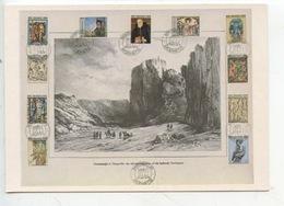 Almannagja At Thingvellir - Auguste Mayer : Atlas Historique Paris 1842 Gaimard's Exp - Nat Fest Stamps 1100 Years - Islande