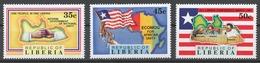 Liberia 1991 Mi# 1541-43** NATIONAL UNITY - Liberia