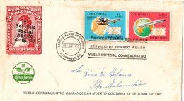 Busta Aerea 50enario Primo Volo Posta Aerea 1969 ( 216 ) - Colombia