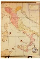 CARTA DELL'ITALIA NEL VI Sec. A.C., EPOCA DELLA MASSIMA ESPANSIONE ETRUSCA - Vedi Retro - Carte Geografiche