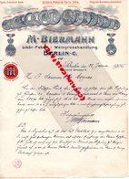 ALLEMAGNE - BERLIN- RARE LETTRE MANUSCRITE SIGNEE M. BIERMANN-LIKOR FABRIK-WEINGROSSHANDLUNG-5 GONTARD STRASSE 1906 - Petits Métiers