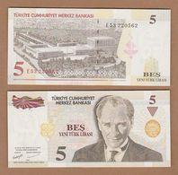 AC - TURKEY - 8th EMISSION 5 TL E UNCIRCULATED - Turquie