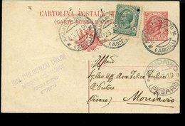 WC982 CARTOLINA POSTALE 1919 , TIMBRO AVV. FULGENZIO BRUNI , ARQUATA DEL TRONTO - Italia