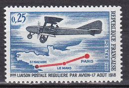 N° 1565 50ème Anniversaire De La Première Liaison Postale Régulière Par Avion: Un Timbre Neuf Sans Charnière - Nuevos