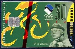 ESTONIA - ESTLAND - ESTONIE 30 UNITS CHIP PHONECARD TELEPHONE CARD SUMMER OLYMPIC GAMES ATLANTA 1996 MINT SEALED - Estonia