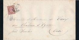 Lettre Avis De Décès N°54 Paris R.Milton - Marcophilie (Lettres)