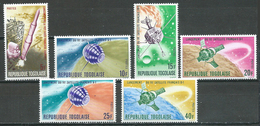Togo YT N°525/530 Lancement Des Premiers Satellites Français Neuf ** - Togo (1960-...)