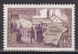 N° 1562 650ème Anniversaire De L'Enclave Papale De Valéras: Un Timbre Neuf Sans Charnière - Ongebruikt