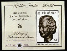 "ILE De MAN - BLOC N° 49 ** (2002) Surcharge ""The Isle Of Man Celebrates The Jubilée"" - Man (Ile De)"