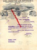 SUISSE- APPENZELL- RARE LETTRE EMIL EBNETER & CO- ALPENZELLER-ALPENBITTER-DISTILLERIE SCHUTZMARKE-1932 - Svizzera