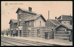 DEUX ACREN  La Gare En 1923 Train Bahnhof Trein 2 SCANS - Lessen