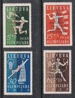 LITUANIE N°365A A 365D N*  SCOUTS - Lituanie