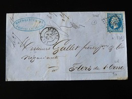 LETTRE DE SAINT SAENS POUR FLERS  -  1860  - - Marcophilie (Lettres)
