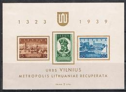 LITUANIE BLOC FEUILLET N°2 N* - Lituanie
