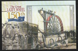 """ILE De MAN - BLOC N° 56 ** (2004) 150 Ans De La Grande Roue à Eau """"Laxey Wheel"""" - Isola Di Man"""
