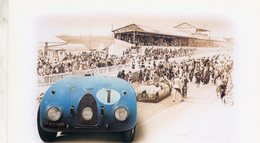Bugatti Type 57G -  Le Mans 1939 -  Pilotes: Jean-Pierre Wimille/Pierre Veyron  -  Tableau De Francois Bruere - Le Mans