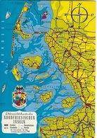 Übersichtskarte Der Nordfriesischen Inseln. Sent To Denmark 1974.  B-3361 - Maps