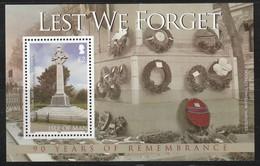 ILE De MAN - BLOC N° 73 ** (2008) 90e Anniversaire De La Fin De La 1re Guerre Mondiale . - Man (Ile De)