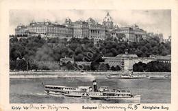 Cartolina Budapest Panorama E Battello Landscape With Boat - Non Classificati