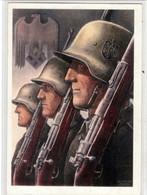Propaganda Karte, Soldaten Mit Stahlhelm Von Gottfried Klein - Weltkrieg 1939-45
