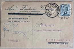 Italia Regno 1929 - Michetti 30c Su Cartolina Postale Trapani Santa Ninfa - Unclassified