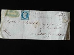 LETTRE DE LES GRANDES VENTES POUR MONT DE MARSAN  -  1858  - - Marcophilie (Lettres)
