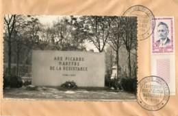 "ENVELOPPE AVEC CACHET DE ""AMIENS - Carte Postale SUR ENVELOPPE - EXPOSITION PHILATHELIQUE"" - 19/05/1959 - 1921-1960: Periodo Moderno"