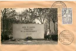"ENVELOPPE AVEC CACHET DE ""AMIENS - Carte Postale SUR ENVELOPPE - EXPOSITION PHILATHELIQUE"" - 19/05/1959 - Marcofilia (Sellos Separados)"