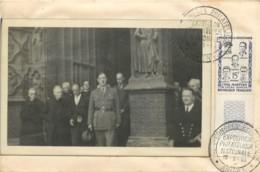 """CACHET """"AMIENS-C.P. SUR ENVELOPPE-EXPOSITION PHILATHELIQUE-VISITE GL DE GAULLE-TIMBRE HEROS DE LA RESISTANCE -19/05/1959 - 1921-1960: Période Moderne"""