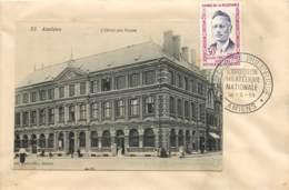 AMIENS - C.P. DE L'HOTEL DES POSTES COLLEE - EXPOSITION PHILATHELIQUE - TIMBRE G. MOUTARDIER - 18/05/1959 - 1921-1960: Periodo Moderno