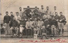 Militaria : Carte Photo : 11é Régt. 42 Bat. De Réserve Service En Campagne De Francheville - Rhone - Weltkrieg 1914-18