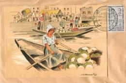"AMIENS -C.P. DE ""PICARDIE Marchands Chou Fleurs"" COLLEE- EXPOSITION PHILATHELIQUE- TIMBRE HEROS RESISTANCE-19/05/1959 - Marcofilia (Sellos Separados)"