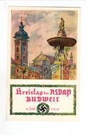 Propaganda Karte, Kreistag Der NSDAP BUDWEIS, - Weltkrieg 1939-45