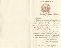 LETTRE A ENTETE DE LA SOCIETE DES AMIS DES ARTS DE BORDEAUX - 1934 - Historical Documents