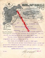 ESPAGNE- MALAGA- RARE LETTRE HIJOS DE ANTo BARCELO - GRANDES BODEGAS-OLD BRANBDY-ANISADOS-VINOS-1913 - España