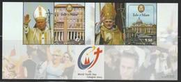 ILE De MAN - BLOC N° 60 ** (2005) Papes Jean-Paul II Et Benoît XVI - Man (Ile De)