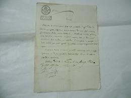 MANOSCRITTO CARTA BOLLATA REGNO LOMBARDO VENETO CENT.30 BELLANO LECCO 1830 - Manuscrits