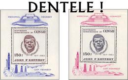 Congo BL 019/20-cu** 150F J.F. Kennedy Lilas & Bleu - MNH - ERREUR/FOUTIEF GETAND! - Cote 185 Euro - République Démocratique Du Congo (1964-71)