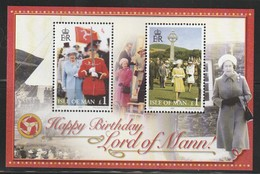 ILE De MAN - BLOC N° 62 ** (2006) S.M La Reine Elizabeth II - Man (Ile De)
